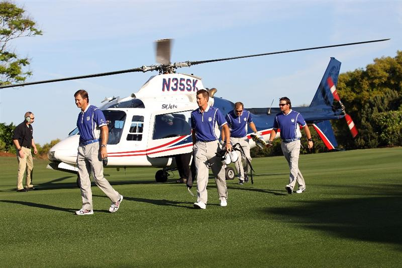 ORLANDO, FL - MARCH 14:  Players arrive for the first day of the Tavistock Cup at Isleworth Country Club on March 14, 2011 in Orlando, Florida.  (Photo by Sam Greenwood/Getty Images)