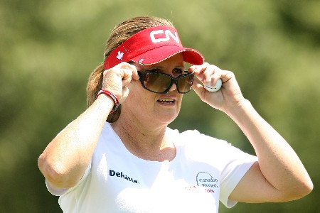 HUIXQUILUCAN, MEXICO - MARCH 15:  Lorie Kane of Canada waits on the 11th tee during the second round of the MasterCard Classic at Bosque Real Country Club on March 15, 2008 in Huixquilucan, Mexico.  (Photo by Scott Halleran/Getty Images)