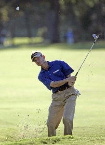 Brad Faxon hits his chip shot on the 9th hole during the first round of the Southern Farm Bureau Classic at Annandale Golf Club in Madison, Mississippi, on September 28, 2006. PGA TOUR - 2006 Southern Farm Bureau Classic - First RoundPhoto by Hunter Martin/WireImage.com
