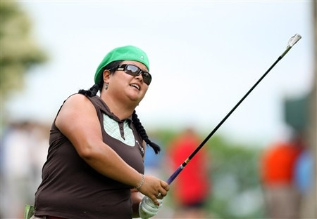 EDINA, MN - JUNE 26:  Christina Kim tees off at the 12th hole during the first round of the 2008 US Womens Open Championship held at Interlachen Country Club on June 26, 2008 in Edina, Minnesota.  (Photo by David Cannon/Getty Images)