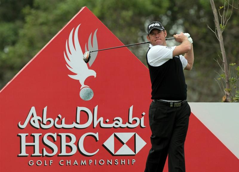 ABU DHABI, UNITED ARAB EMIRATES - JANUARY 19:  Lee Westwood of England during the pro-am as a preview for the 2011 Abu Dhabi HSBC Golf Championship to be held at the Abu Dhabi Golf Club on January 19, 2011 in Abu Dhabi, United Arab Emirates.  (Photo by David Cannon/Getty Images)