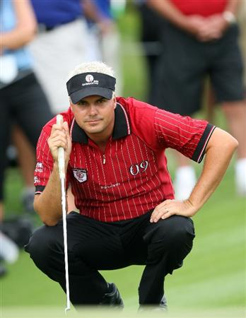 ORLANDO, FL - MARCH 17:  Daniel Chopra of Sweden and the Isleworth team looks over a shot on the 17th hole during the second day of the 2009 Tavistock Cup at the Lake Nona Golf and Country Club, on March 17, 2009 in Orlando, Florida  (Photo by David Cannon/Getty Images)
