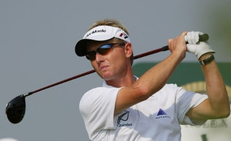 England's Philip Golding follows his drive during the final round of the 2005 French Open as part of the European PGA circuit at St. Quentin near Paris, June 26, 2005.Photo by Alexanderk/WireImage.com