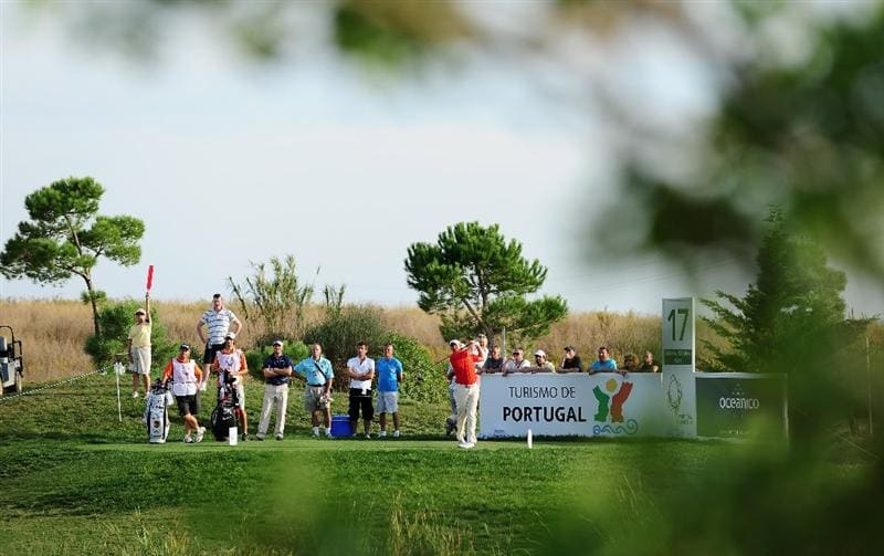 VILAMOURA, PORTUGAL - OCTOBER 18:  Lee Westwood of England plays his tee shot on the 17th hole during the final round of the Portugal Masters at the Oceanico Victoria Golf Course on October 18, 2009 in Vilamoura, Portugal.  (Photo by Stuart Franklin/Getty Images)