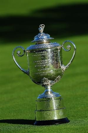 CHASKA, MN - AUGUST 16:  The Wanamaker Trophy is seen during the final round of the 91st PGA Championship at Hazeltine National Golf Club on August 16, 2009 in Chaska, Minnesota.  (Photo by Stuart Franklin/Getty Images)