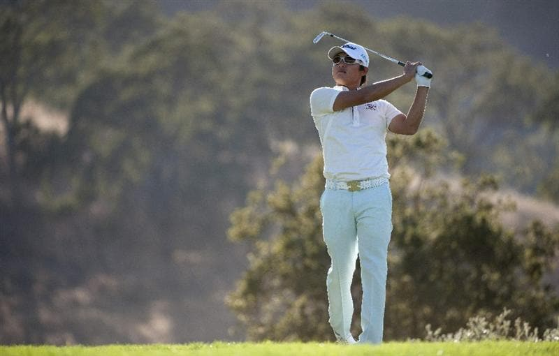 SAN MARTIN, CA - OCTOBER 15:  Ryuji Imada of Japan hits a tee shot on the seventh hole during the second round of the Frys.com Open at the CordeValle Golf Club on October 15, 2010 in San Martin, California.  (Photo by Robert Laberge/Getty Images)