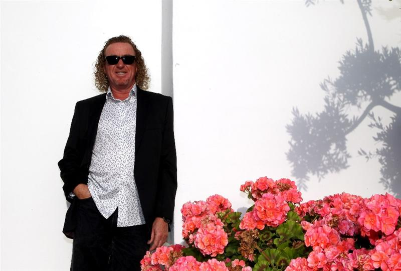 CASARES, SPAIN - MAY 17:  Miguel Angel Jimenez of Spain poses for a picture ahead of the welcome dinner for the Volvo World Match Play Championship at Finca Cortesin on May 17, 2011 in Casares, Spain.  (Photo by Warren Little/Getty Images)