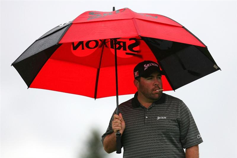 VERONA, NY - OCTOBER 01:  Kevin Stadler stands on  the 18th hole during the first round of the 2009 Turning Stone Resort Championship at Atunyote Golf Club held on October 1, 2009 in Verona, New York.  (Photo by Chris Trotman/Getty Images)