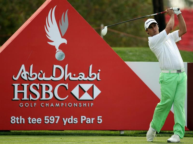 ABU DHABI, UNITED ARAB EMIRATES - JANUARY 20:  Rafa Echenique of Argentina during the first round of the Abu Dhabi HSBC Golf Championship at the Abu Dhabi Golf Club on January 20, 2011 in Abu Dhabi, United Arab Emirates.  (Photo by Ross Kinnaird/Getty Images)