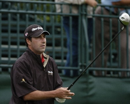 Jose Maria Olazabal  competes in first-round competition March 3, 2005  at the Ford Championship at Doral in Miami.  Olazabal shot a 64 and tied for the lead at eight under par.