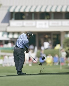 Rod Pampling during the first round of the Verizon Heritage Classic at the Harbour Town Golf Links in Hilton Head, South Carolina on April 12, 2007. Photo by Michael Cohen/WireImage.com