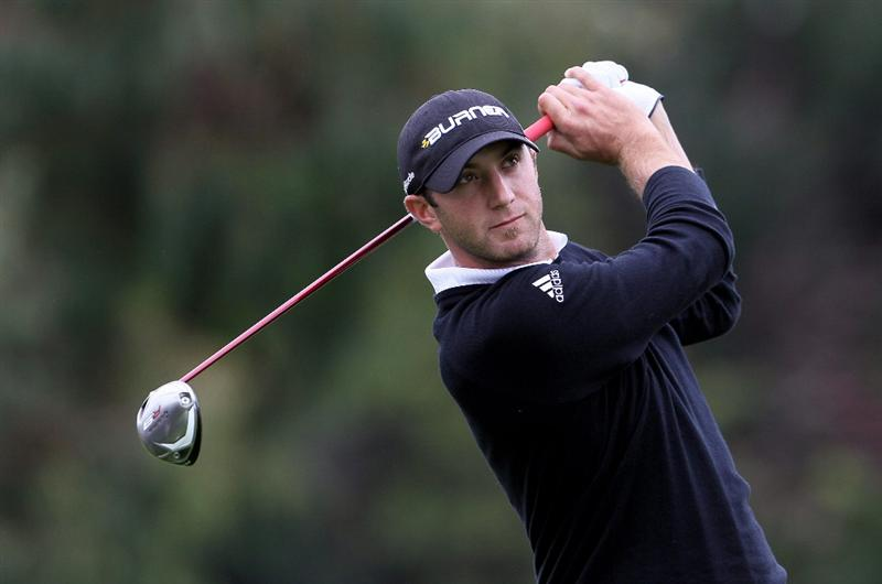 PACIFIC PALISADES, CA - FEBRUARY 6:  Dustin Johnson hits a tee shot on the second hole during the third round of the Northern Trust Open at Riviera Country Club on February 6, 2010 in Pacific Palisades, California.  (Photo by Jeff Gross/Getty Images)