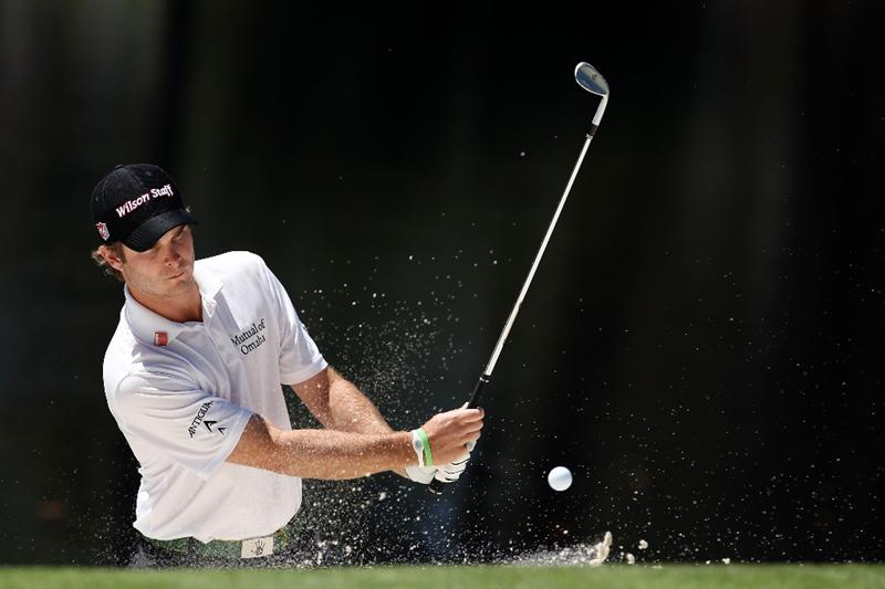 AUGUSTA, GA - APRIL 06:  Kevin Streelman plays a bunker shot during the Par 3 Contest prior to the 2011 Masters Tournament at Augusta National Golf Club on April 6, 2011 in Augusta, Georgia.  (Photo by Andrew Redington/Getty Images)