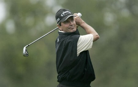 Mark McNulty in action during the first round of the Greater Hickory Classic at Rock Barn on the Jones Course  in Conover, North Carolina on October 7, 2005.Photo by Michael Cohen/WireImage.com