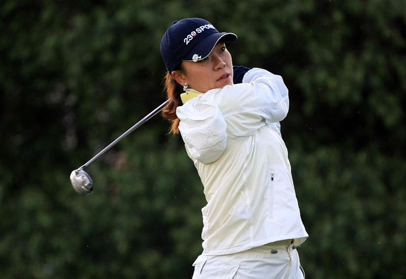 HUIXQUILUCAN, MEXICO - MARCH 20:  Shiho Oyama of Japan hits her tee shot on the 11th hole during the first round of the MasterCard Classic at the BosqueReal Country Club on March 20, 2009 in Huixquiucan, Mexico.  (Photo by Scott Halleran/Getty Images)