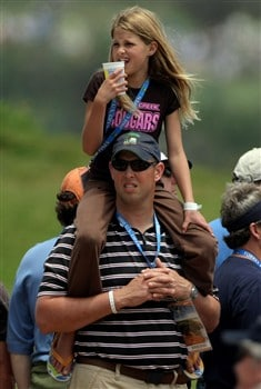 SAN DIEGO - JUNE 15:  Golf fans watch the play during the final round of the 108th U.S. Open at the Torrey Pines Golf Course (South Course) on June 15, 2008 in San Diego, California.  (Photo by Doug Pensinger/Getty Images)