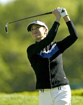 Leta Lindley Plays the seventh hole during the first round of the 2005 Sybase Classic at Wykagyl Country Club in New Rochelle, New York on May 19, 2005.Photo by Michael Cohen/WireImage.com