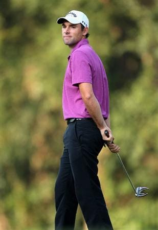 HONG KONG, CHINA - NOVEMBER 20:  Oliver Wilson of England reacts to a putt on the 15th hole during the first round of the UBS Hong Kong Open at the Hong Kong Golf Club on November 20, 2008 in Fanling, Hong Kong.  (Photo by Stuart Franklin/Getty Images)