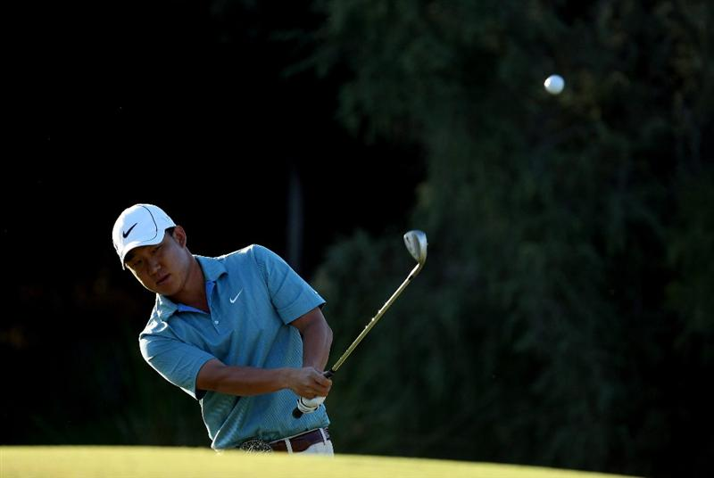 PERTH, AUSTRALIA - FEBRUARY 20:  Anthony Kim of USA plays his third shot at the 10th hole during the second round of the 2009 Johnnie Walker Classic tournament at the Vines Resort and Country Club, on February 20, 2009, in Perth, Australia  (Photo by David Cannon/Getty Images)