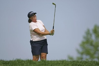 Meg Mallon during the first round of the 2006 Sybase Classic at Wygakyl Country Club in  New Rochelle, New York on May 18, 2006.Photo by Michael Cohen/WireImage.com