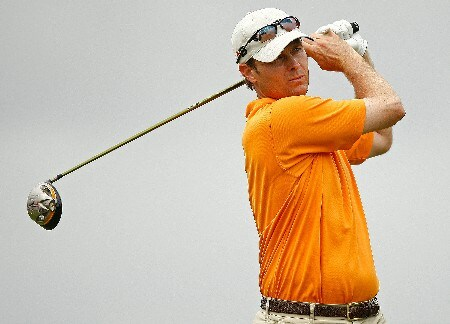 RIO GRANDE, PUERTO RICO - MARCH 21:  Bob Estes hits his tee shot on the 14th hole during the second round of the Puerto Rico Open presented by Banco Popular held on March 21, 2008 at Coco Beach Golf & Country Club in Rio Grande, Puerto Rico.  (Photo by Mike Ehrmann/Getty Images)