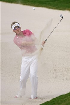 PONTE VEDRA BEACH, FL - MAY 10:  Ian Poulter of England plays from a bunker on the 11th hole during the third round of THE PLAYERS Championship on THE PLAYERS Stadium Course at TPC Sawgrass on May 10, 2008 in Ponte Vedra Beach, Florida.  (Photo by Andy Lyons/Getty Images)