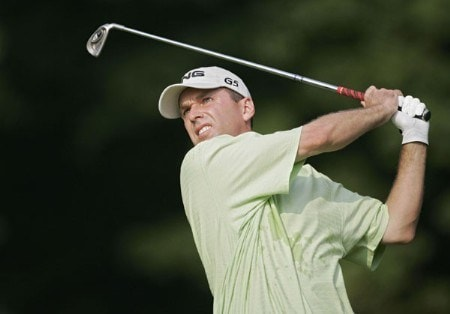 Kevin Sutherland during the first round of the 2005 PGA Championship at Baltusrol Golf Club in Springfield, New Jersey on August 11, 2005.Photo by Sam Greenwood/WireImage.com