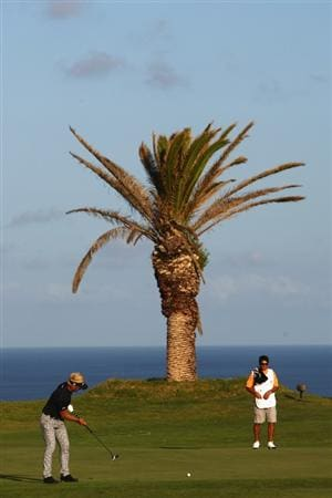 MADEIRA, PORTUGAL - MARCH 20:  Per-Ulrik Johansson of Sweden putts on the sixteenth during round two of the Madeira Islands Open BPI at the Porto Santo Golfe Club on March 20, 2009 in Porto Santo,Portugal.  (Photo by Michael Steele/Getty Images)