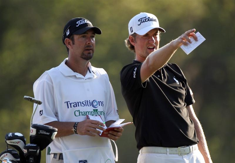 PALM HARBOR, FL - MARCH 18:  Webb Simpson plays a shot on the 17th hole during the second round of the Transitions Championship at Innisbrook Resort and Golf Club on March 18, 2011 in Palm Harbor, Florida.  (Photo by Sam Greenwood/Getty Images)