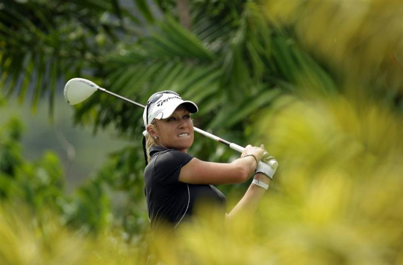SINGAPORE - FEBRUARY 25:  Natalie Gulbis of the USA during the second round of the HSBC Women's Champions at Tanah Merah Country Club  on February 25, 2011 in Singapore, Singapore.  (Photo by Ross Kinnaird/Getty Images)