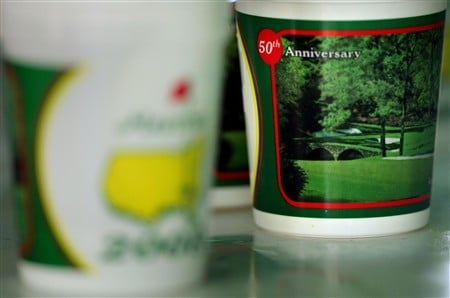 AUGUSTA, GA - APRIL 08:  The Masters cups are seen during the second day of practice prior to the start of the 2008 Masters Tournament at Augusta National Golf Club on April 8, 2008 in Augusta, Georgia.  (Photo by Harry How/Getty Images)