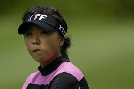 WILLIAMSBURG, VA - MAY 10:  Mi Hyun Kim of South Korea looks at a leader board on the 15th fairway in Round 1 of the LPGA of the LPGA Michelob Ultra Open at Kingsmill May 10, 2007, in Williamsburg, Virginia.  (Photo by Jonathan Ernst/Getty Images)