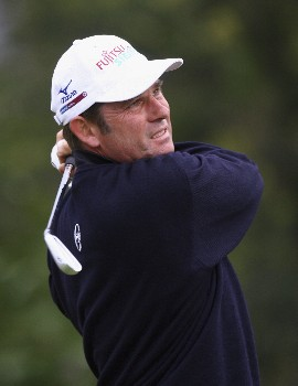 MADEIRA, PORTUGAL - MARCH 21:  Sven Struver of Germany hits a tee shot during Round Two of the Madeira Islands Open BPI 2008 at Clube De Golf Santo Da Serra on March 21, 2008 in Madeira, Portugal.  (Photo by Ryan Pierse/Getty Images)