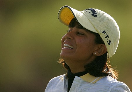 SUPERSTITION MOUNTAIN, AZ - MARCH 22:  Julieta Granada of Paraguay walks to the ninth green during the first round of the Safeway International at the Superstition Mountain Golf and Country Club on March 22, 2007 in Superstition Mountain, Arizona.  (Photo by Scott Halleran/Getty Images)