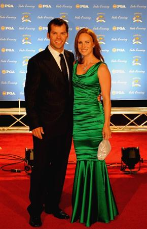 LOUISVILLE, KY - SEPTEMBER 17:  Paul Casey of England and European team member arrives on the red carpet with Jocelyn Hefner for the Ryder Cup Gala dinner prior to the start of the 2008 Ryder Cup September 17, 2008 in Louisville, Kentucky.  (Photo by Sam Greenwood/Getty Images)