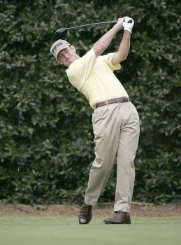Jeff Maggert on the 1st tee during the third round of the 2005 U.S. Open Golf Championship at Pinehurst Resort course 2 in Pinehurst, North Carolina on June 18, 2005.Photo by S. Badz/WireImage.com