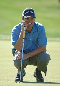 Robert Damron during the first round of the EDS Byron Nelson Championship held at the TPC Players Course and the Cottonwood Valley Course on Thursday, May 11, 2006 in Irving, TexasPhoto by Marc Feldman/WireImage.com
