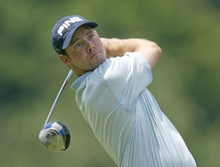 Doug LaBelle II during the third round of the 2005 National Mining Association Pete Dye Classic at the Pete Dye Golf Club in Bridgeport, West Virginia on Saturday, July 9th, 2005.Photo by Hunter Martin/WireImage.com