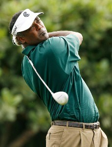 Vijay Singh hits his tee shot at the first hole during the second round of the Mercedes-Benz Championship at the Plantation Course at Kapalua on January 4, 2008 in Kapalua, Maui, Hawaii. PGA TOUR - 2008 Mercedes-Benz Championship - Second RoundPhoto by Stan Badz/PGA TOUR/WireImage.com