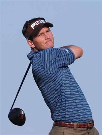 PEBBLE BEACH, CA - FEBRUARY 13:  Mark Wilson plays a shot on the sixth during round three of the AT&T Pebble Beach National Pro-Am at Spyglass Hill Golf Course on February 13, 2010 in Pebble Beach, California.  (Photo by Stuart Franklin/Getty Images)