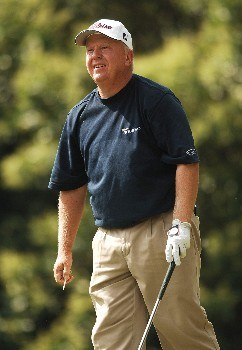 Billy Mayfair hits from the ninth tee during the second round of the 2005 Bank of America Colonial at Colonial Country Club in Forth Worth, Texas May 20, 2005.Photo by Steve Grayson/WireImage.com