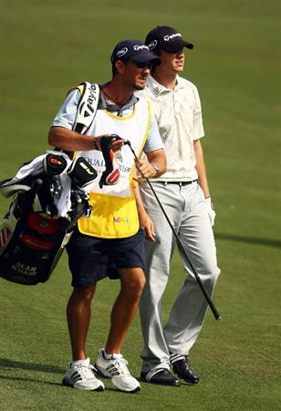 CHARLOTTE, NC - MAY 03:  Sean O'Hair walks with his caddie Paul Tesori during the final round of the Quail Hollow Championship at the Quail Hollow Club on May 3, 2009 in Charlotte, North Carolina.  (Photo by Scott Halleran/Getty Images)