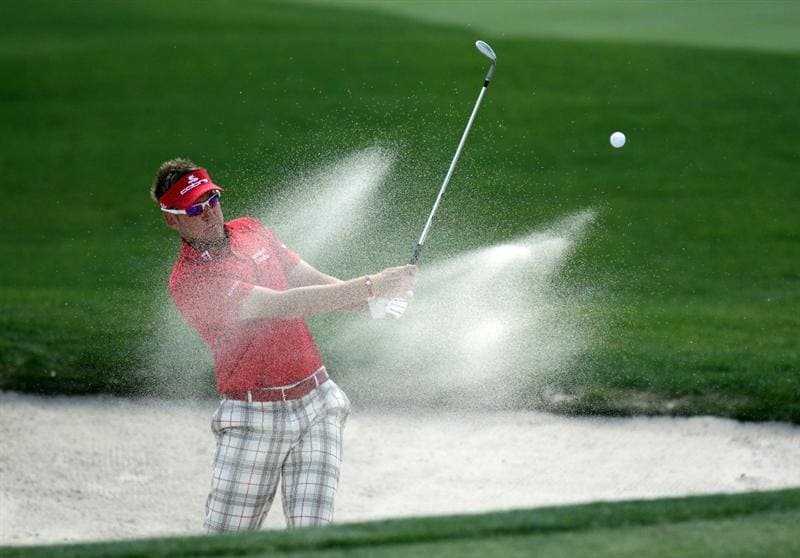 ORLANDO, FL - MARCH 24:  Ian Poulter of England plays his third shot at the 1st hole during the first round of the 2011 Arnold Palmer Invitational presented by Mastercard at the Bay Hill Lodge and Country Club on March 24, 2011 in Orlando, Florida.  (Photo by David Cannon/Getty Images)