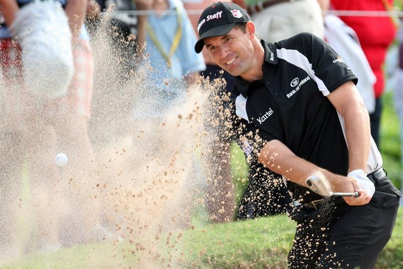 TUCKER'S TOWN, BERMUDA - OCTOBER 15: Padraig Harrington of Ireland during the final round of the PGA Grand Slam of Golf at the Mid Ocean Club on October 15, 2008 in Tucker's Town, Bermuda. (Photo by Ross Kinnaird/Getty Images)