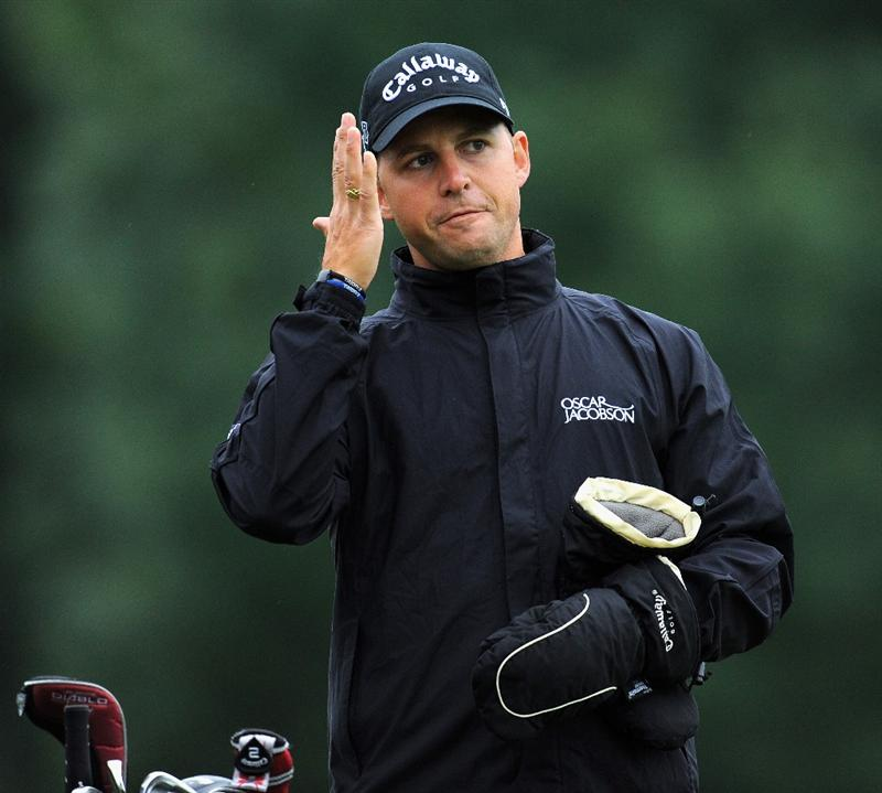 MUNICH, GERMANY - JUNE 24:  Niclas Fasth of Sweden gestures during the Pro - am prior to The BMW International Open Golf at The Munich North Eichenried Golf Club on June 24, 2009, in Munich, Germany.  (Photo by Stuart Franklin/Getty Images)
