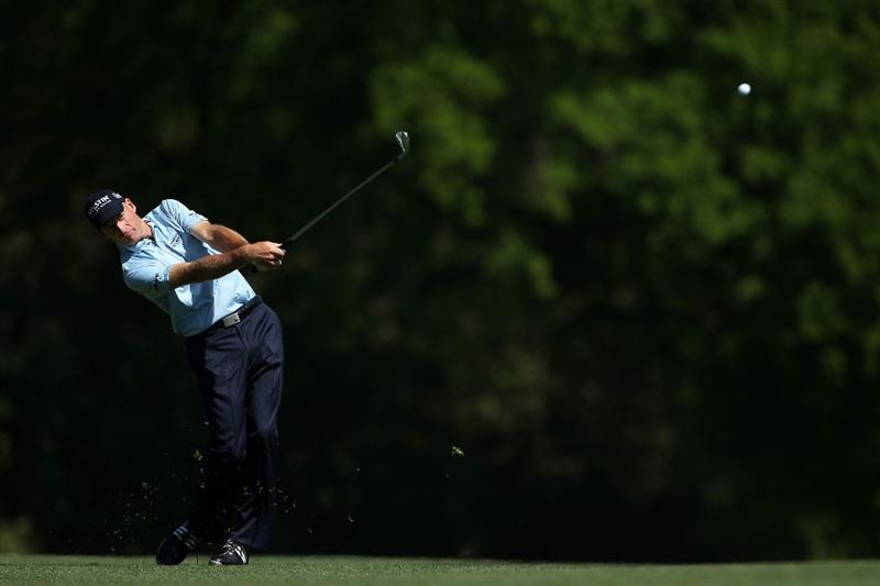 AUGUSTA, GA - APRIL 04:  Jim Furyk hits a shot during a practice round prior to the 2011 Masters Tournament at Augusta National Golf Club on April 4, 2011 in Augusta, Georgia.  (Photo by Andrew Redington/Getty Images)