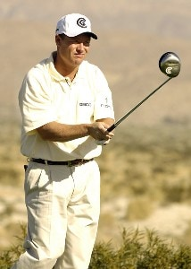 Joe Durant in action during the first round of the Bob Hope Chrysler Classic at The Classic Club in Palm Desert, California  on Wednesday, January 18, 2006.Photo by Marc Feldman/WireImage.com