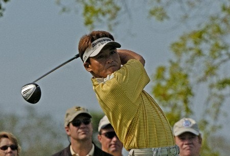 Shigeki Maruyama drives from the eighth tee  during the third round  of the Bay Hill Invitational March 19, 2005 in Orlando.