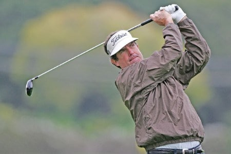 Bruce Lietzke in action during the final round of the 2005 Wal-Mart First Tee Open at Pebble Beach Golf Links, on September 4,2005. The event is being held at Pebble Beach Golf Links & Del Monte G.C., Pebble Beach, Ca. Hale Irwin shot -13 under for the win.  It's his third win of the 2005 season.Photo by Stan Badz/PGA TOUR/WireImage.com