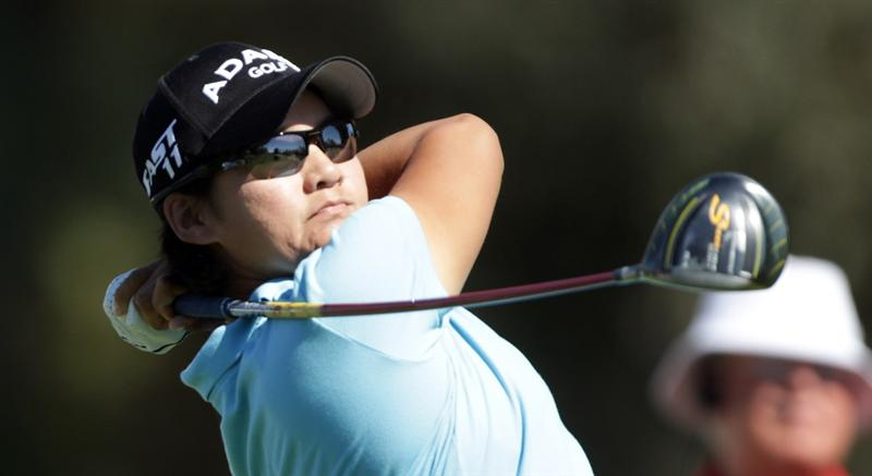 RANCHO MIRAGE, CA - MARCH 30:  Yani Tseng of Taiwan in action during the pro-am for the 2011 Kraft Nabisco Championship on the Dinah Shore Championship Course at the Mission Hills Country Club on March 30, 2011 in Rancho Mirage, California.  (Photo by David Cannon/Getty Images)